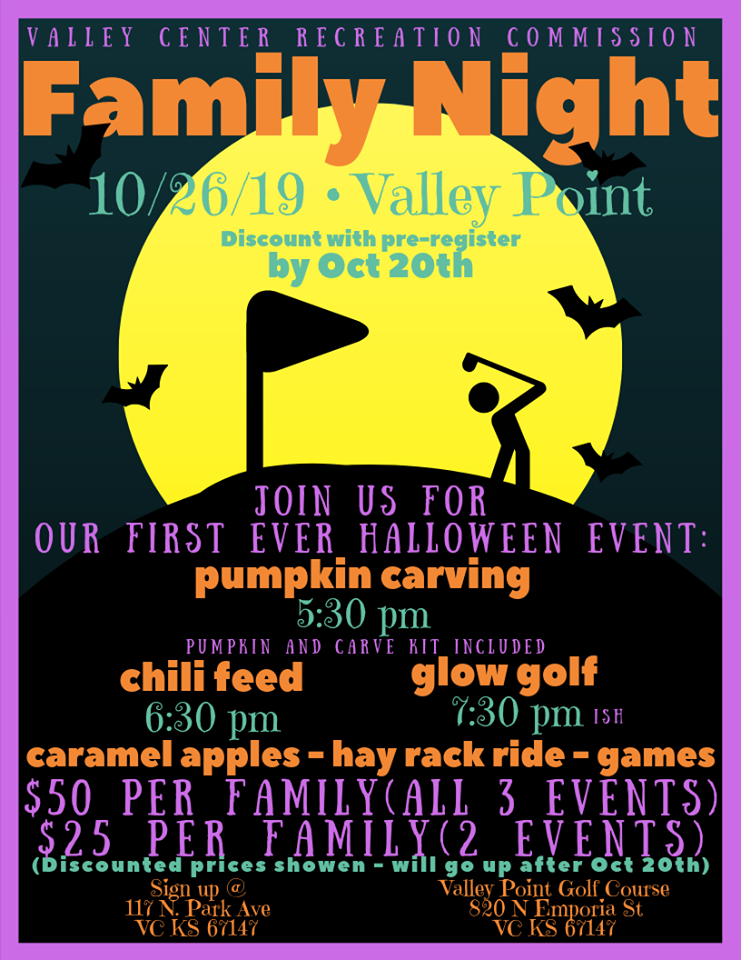Family Night Oct. 26, Click here for more information